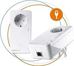 Devolo Magic 2 LAN - Starter Kit de Powerline Rápido para una Red Doméstica Fiable a Través de Techos y Paredes Mediante los Cables de Corriente, Innovadora Tecnología G.hn, Blanco