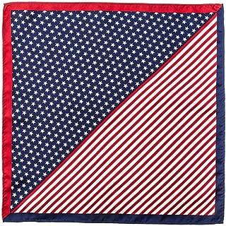 100% Silk American Flag Stars & Stripes Handkerchief Pocket Square
