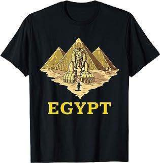 エジプトのピラミッドスフィンクスエジプトのファラオツタンカーメン古代エジプトの神話 Tシャツ