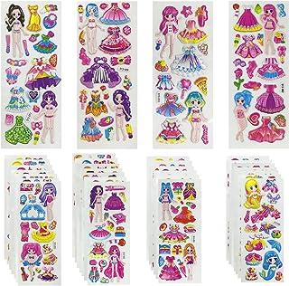 Gommettes Enfants 32 pièces 3D Autocollants Enfant,64 bits Stickers D'habillage pour Princesse Sirène Top Modèle,500 Acces...