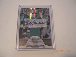 Bob Griese Miami 2011 Panini Certified Game Used Jersey Auto 12/25 Signed Card - Panini Certified - Football Autographed Game Used Cards