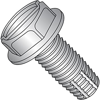 #6-32 Thread Size Type F Pack of 100 Hex Washer Head Zinc Plated Finish 1//4 Length Slotted Drive Steel Thread Cutting Screw