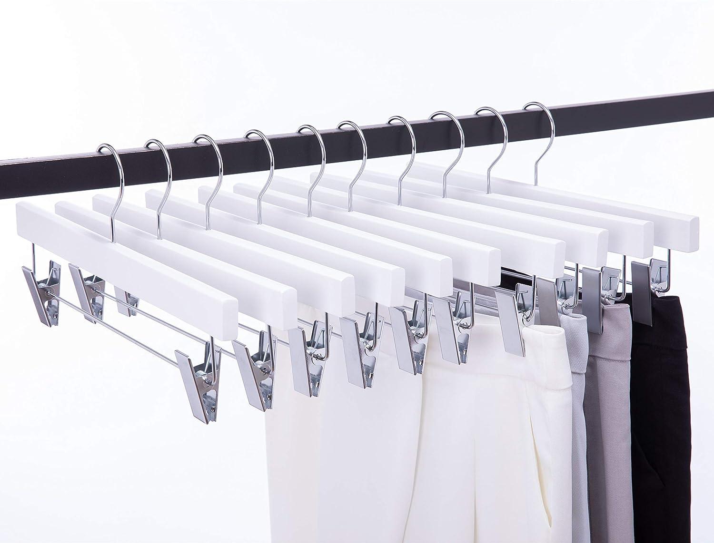 Cocomaya 14 Inch 20 gift Pack Luxury Finally resale start Solid Skirt Hanger Wooden Pants