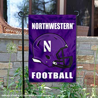 College Flags and Banners Co. Northwestern Wildcats Football Helmet Garden Yard Flag