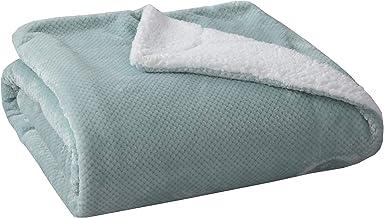 SOCHOW Waffle Sherpa Fleece Throw Blanket, Super Soft Fuzzy Warm, Lightweight Fluffy Reversible Plush Blanket for Bed Sofa...