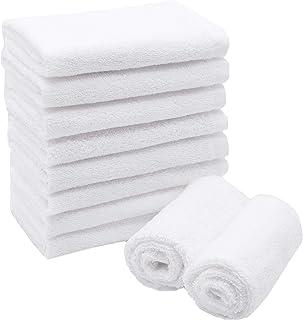 comprar comparacion ZOLLNER Juego de 10 Toallas para la Cara de algodón, 30x30 cm, Blancas