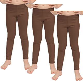 ca34059e84ddd Stretch is Comfort Girl's Set of 3 Cotton and Metallic Footless Leggings