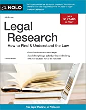Legal Research: How to Find & Understand the Law (English Edition)