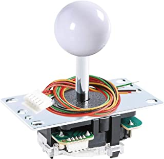 SANWA JLF-TP-8YT Joystick White Original - for Arcade Jamma Game 4 & 8 Way Adjustable, Compatible with Catz Mad SF4 Tourna...