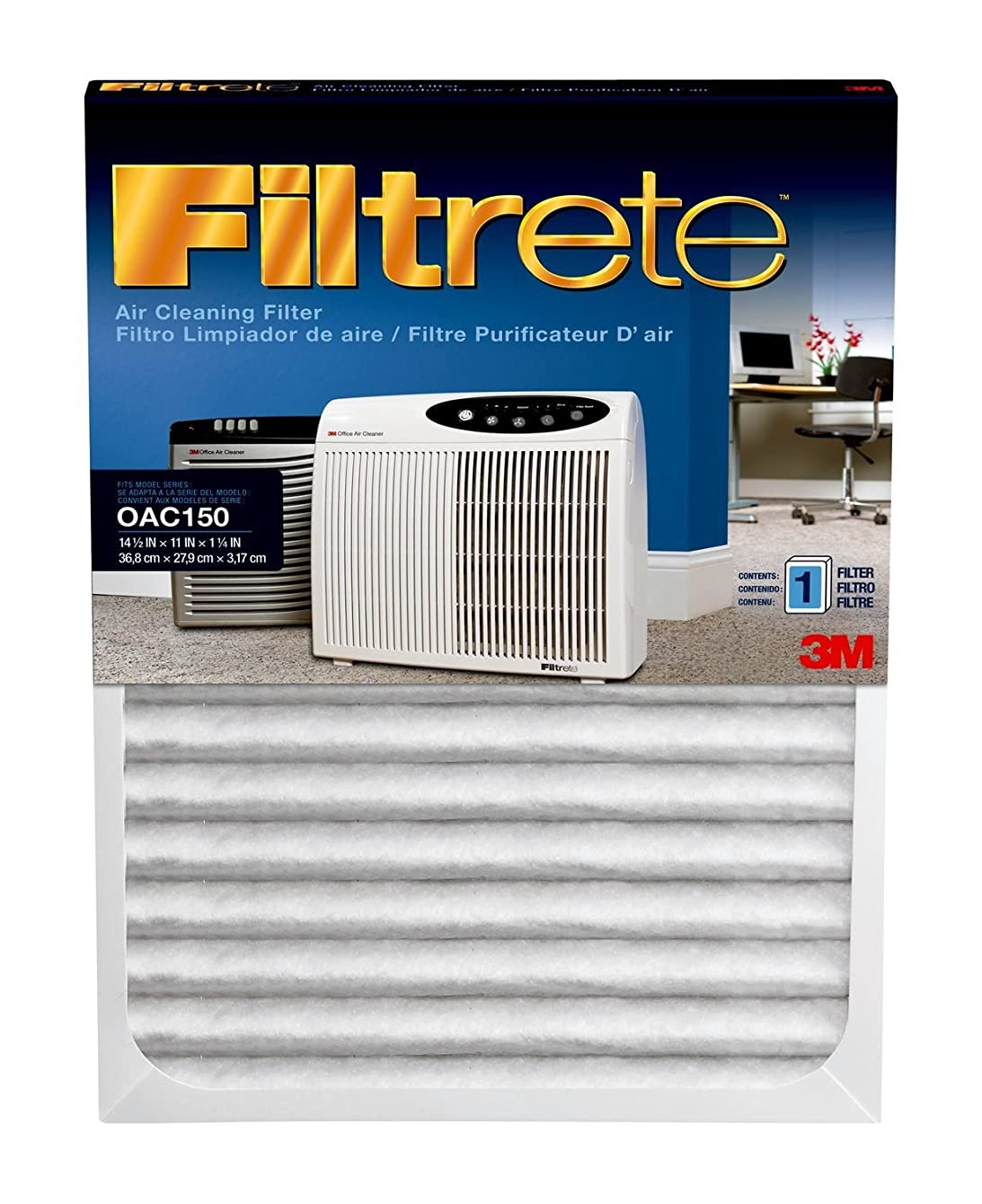 Filtrete OAC150RF Replacement Filter, 11 x 14 1/2