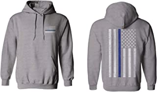 American Flag Thin Blue Line USA Police Support Lives Matter Hoodie