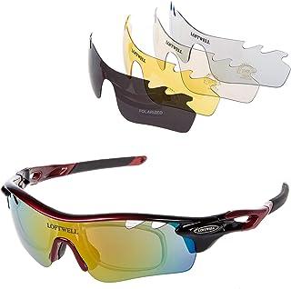 82959deadb Gafas de sol, LOFTWELL Gafas de sol deportivas polarizadas con 5 lentes  intercambiables para Hombres