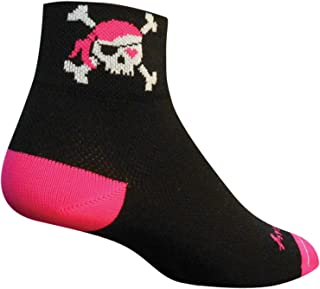 SockGuy Women's 2in Lady Pirate Cycling/Running Socks