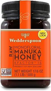 Wedderspoon Raw Premium Manuka Honey KFactor 16+, Unpasteurized, Genuine New Zealand Honey, Multi-Functional, Non-GMO Supe...