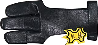 ALLNESS GLOVES Genuine Leather 3 Finger Archery Glove/Shooting Glove/Smooth Releasing