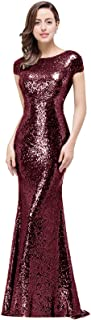 Best sequin burgundy dress Reviews