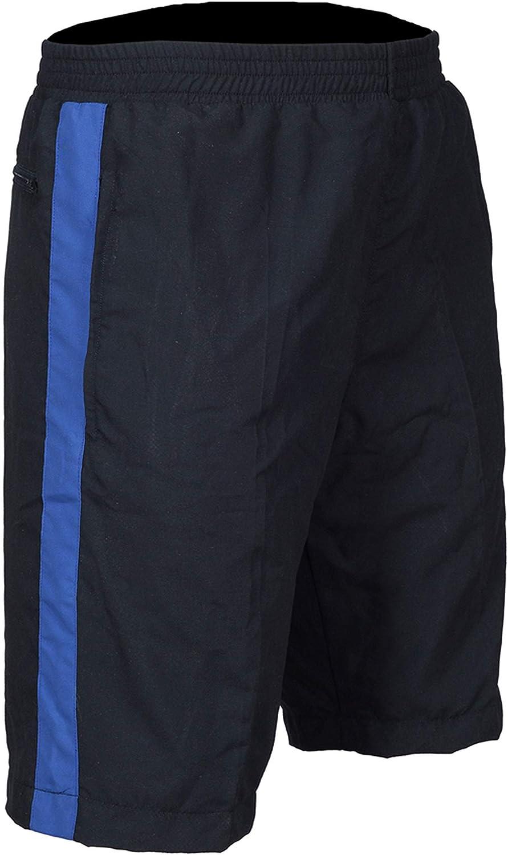 una raya para caminar causal verano para nataci/ón vacaciones playa gimnasio Sterling Sports/® Pantalones cortos con forro de malla para hombre