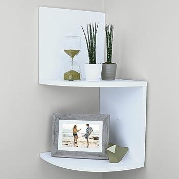 Multi pack 150mm and 200mm 2 Shelves Wall Mounted Glass Corner Shelves