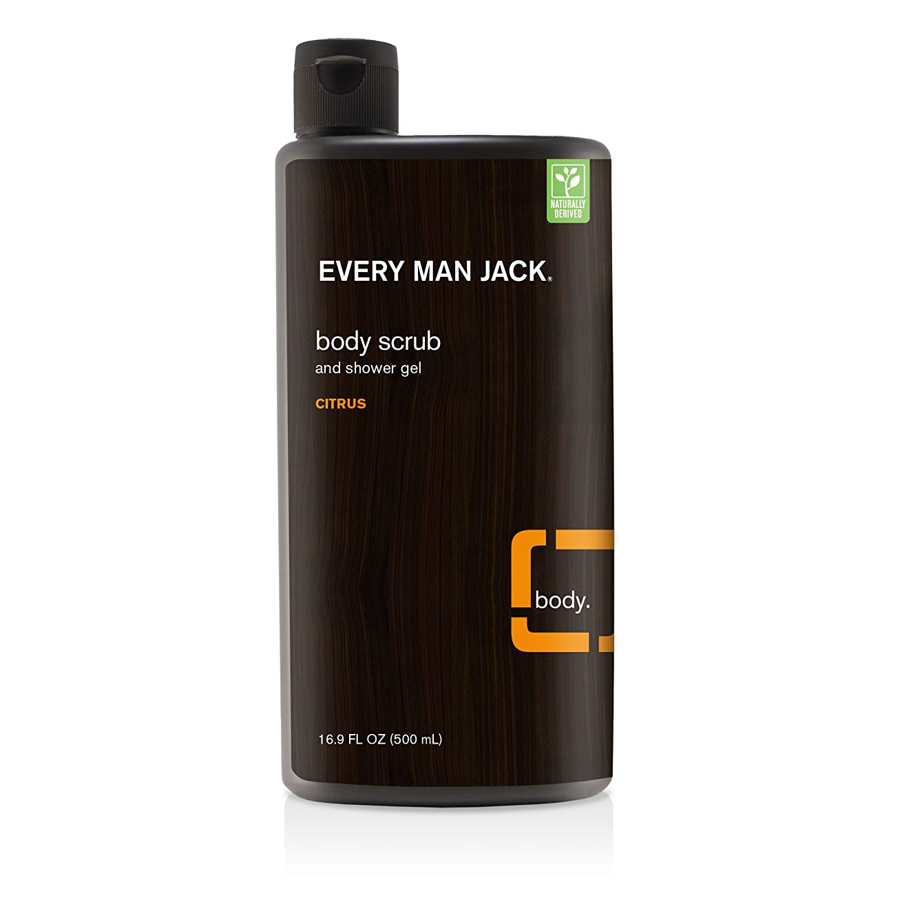 女性逸脱ボリュームEvery Man Jack Citrus Body Scrub 473 ml (並行輸入品)