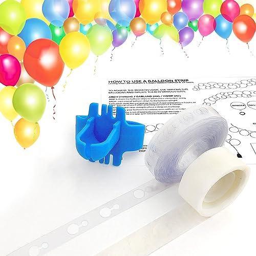 Keklle Balloon Arch Garland Decorating Strip Kit, Reusable Balloon Tape Strip 16ft, Tying Tool, Dot Glue, Super Easy to Make Balloon Arch Garland (3)