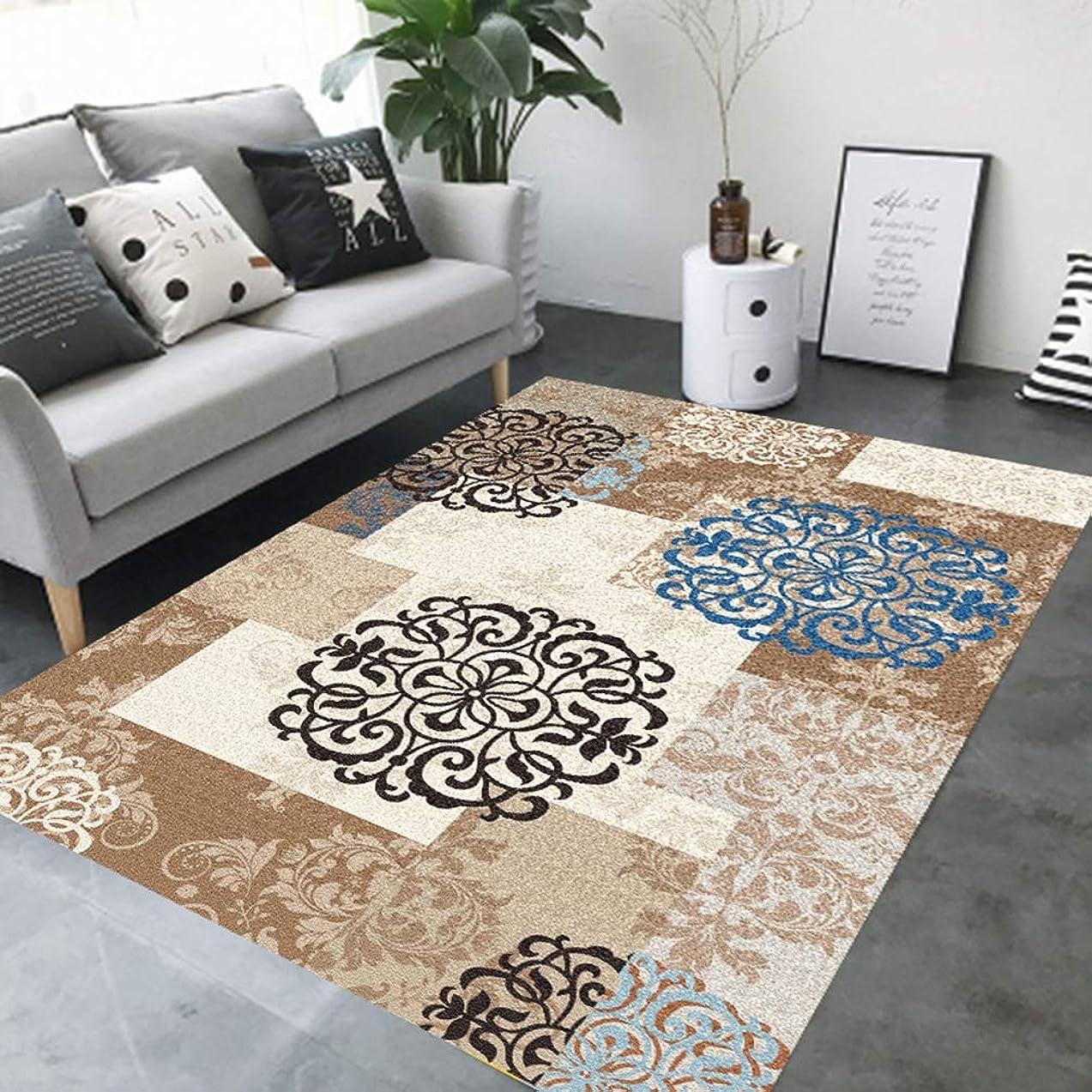 畝間より多いつづりリビングラグ カーペット 寝室 書斎 洗濯可能 滑り止め加工 モダン ダイニング キッチン 幾何柄 幾何模様 シャギー 床暖房対応 ストライプ 北欧 クッション性 140X160CM グレー マット 絨毯