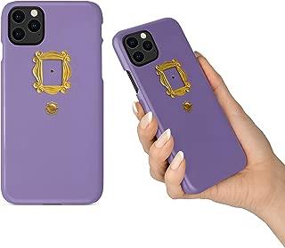 BrilliantCustoms New iPhone 11, 11 Pro, 11 Pro Max Phone Case Friends TV Show Purple Door Gold Frame (iPhone 11)