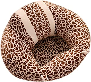 Infant Sitting Chair Toldder Infant Learn Sitting Sofa Chair Baby Safety Sofa Support Seat Leopard Pattern Baby Plush Pillow Cushion Toys Gift Couch Bed Furniture Color Brown Size One size
