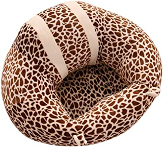 Baby Sofa Toldder Infant Learn Sitting Sofa Chair Baby Safety Sofa Support Seat Leopard Pattern Baby Plush Pillow Cushion Toys Gift Couch Bed Furniture black brown Help Baby Learn Sit