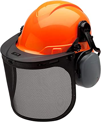 Ear Muffs Pyramex Safety FORKIT Forestry Kit with Ridgeline Cap Style Hard Hat White Faceshield and Hard Hat Adapter