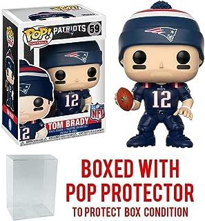 Pop! NFL: New England Patriots, Tom Brady Color Rush #59 Vinyl Figure (Bundled with Pop Protector)