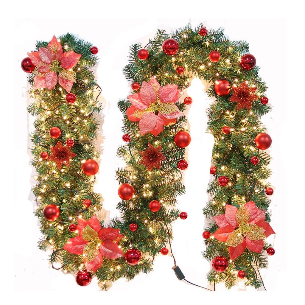 Libraoeu Guirlande No/ël de Sapin Artificiel de 180 CM N/œud Gold D/écoration No/ël Sapin Dot/é Pommes de Pin des Babioles Fleurs et Feuilles pour F/êtes de No/ël Party id/éal pour Chemin/ée Magasins Or