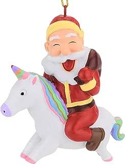 Tree Buddees Santa Riding A Unicorn Christmas Ornament