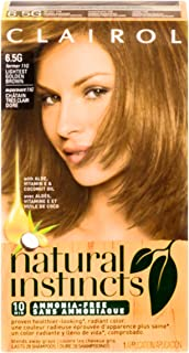 Clairol Natural Instincts Hair Color, [6.5G] Lightest Golden Brown 1 Each