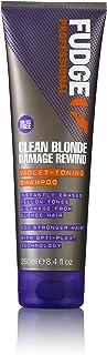 Fudge Professional Purple Toning Shampoo, Clean Blonde Damage Rewind Shampoo, For Blonde Hair, 250 ml