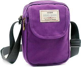 Gcepls Gcepls Damen Handtasche aus Segeltuch, klein, 2-lila