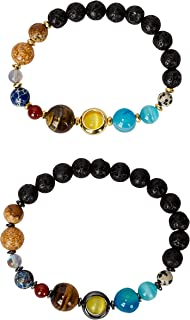 New! His and Hers Couple Circle Distance Universe Bracelets Collection