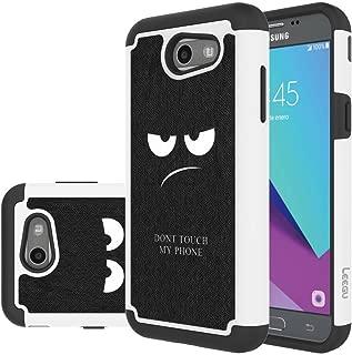 for Samsung Galaxy J3 Emerge Case, J3 Prime / J3 2017 / J3 Mission / J3 Luna Pro / J3 Eclipse/Express Prime 2 / Amp Prime 2 / Sol 2 Case, LEEGU Dual Layer Protective Case - Don't Touch My Phone