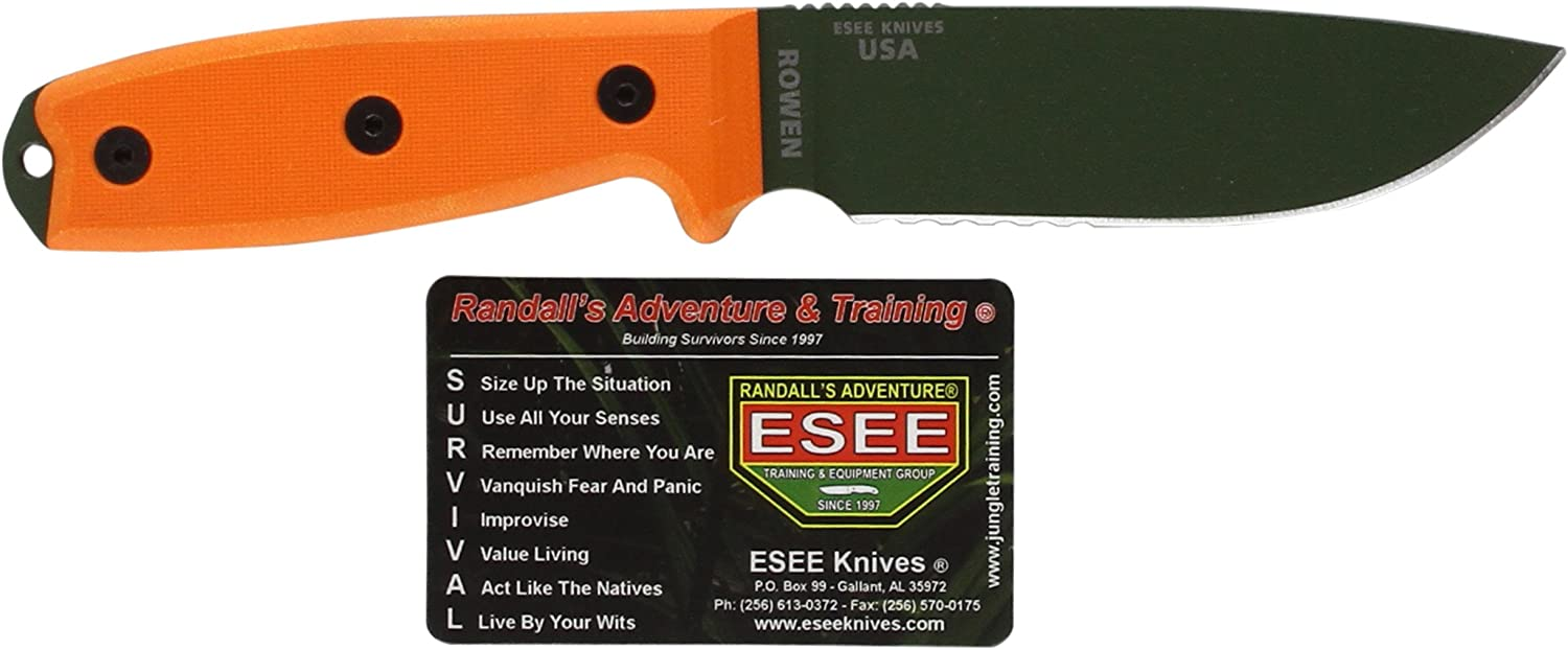 Esee - Outdoormesser     Klingenlnge  11,43 cm - Orange Griff  G-10 - Model 4 Part Serrated