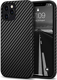 Sponsored Ad - Tasikar Compatible with iPhone 12 Case/iPhone 12 Pro Case Carbon Fiber Leather Design with TPU Hybrid Slim ...