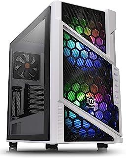 Thermaltake Commander C31 スノーマザーボード 同期 ARGB ATX ミッドタワー コンピューターシャーシ 200mm ARGB 5V マザーボード同期 RGB フロントファン + 1 120mm リアブラックファン ...