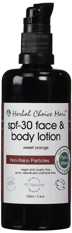 カルシウム格納くぼみHerbal Choice Mari SPF30 Face & Body Lotion Sweet Orange 100ml/ 3.4oz Pump by Herbal Choice Mari