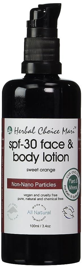 投票こだわりショートHerbal Choice Mari SPF30 Face & Body Lotion Sweet Orange 100ml/ 3.4oz Pump by Herbal Choice Mari