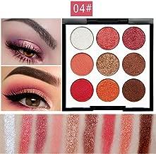Enjocho Eyeshadow Palette 9 Colors Pearl Glitter Eye Shadow Powder Make Up Waterproof Matt Eye Shadow Palette Cosmetics (D)