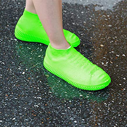 Clomana Rain Sand Water Protecting Reusable Waterproof Silicon Shoe Covers (Multi Color Will Ship)