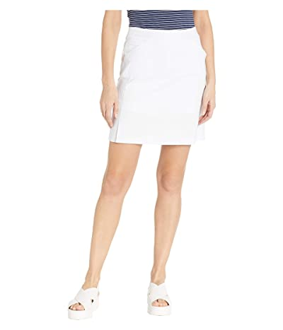 Tribal Stretch Bengaline Pull-On Skort (White) Women