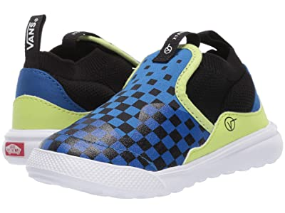 Vans Kids Xtremeranger (Infant/Toddler) ((Checkerboard) Blue/Sharp Green) Boy