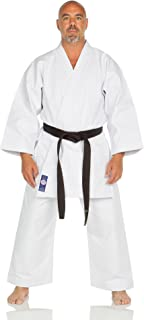 Ronin Brand Blue Label Shiai Brushed Karate GI - Heavyweight Martial Arts Uniform - Soft 11 oz. Brushed Canvas Karate Uniform - Perfect for Competitions and Training