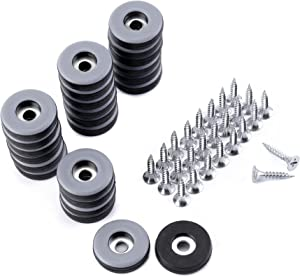 Lpraer 24 Pack 1 Inch Screw on Furniture Glides Sliders for Wooden Furniture Heavy Duty Nail on Chair Leg Glides Sliders Pads Floor Protectors
