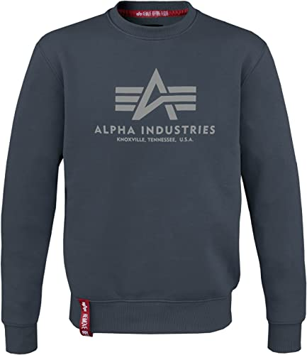 Alpha Ind... - Sweat-Shirt - Uni - Col Rond - Manches Longues - Homme