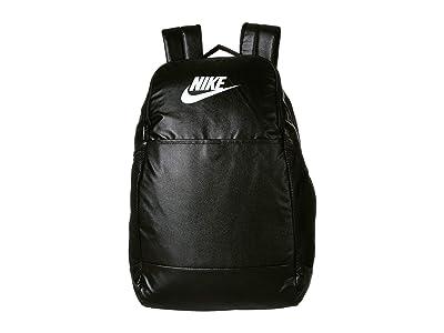 Nike Brasilia Medium Training Backpack 9.0 (Black/Black/White) Backpack Bags